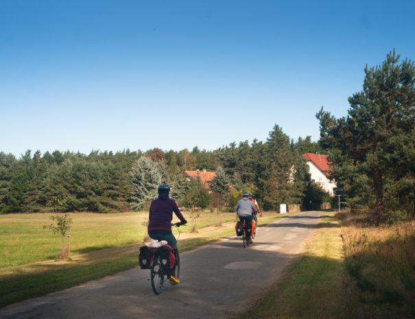 Radfahrer auf einem Weg
